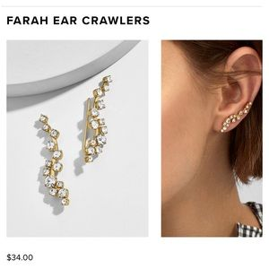 BRAND NEW BaubleBar Farah Ear Crawlers